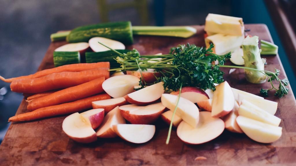Zelenina a ovoce je ideální svačinkou